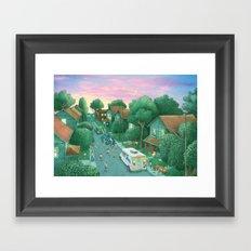 Grimloch Lane, Sunset Framed Art Print