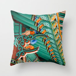 Hwaeomsa Temple Decorative Roof Throw Pillow