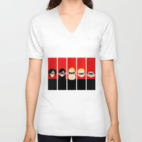 helen V-neck T-shirts featuring Incredibles Series Helen by iankingart