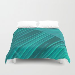 Banana Leaf Abstract Duvet Cover