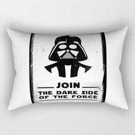 Blak Brush - Star Join the dark side of the force Vader Wars Rectangular Pillow