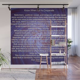 Cooperation - Quote Wall Mural