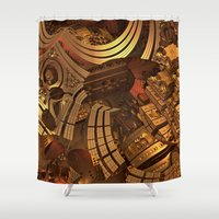 mad Shower Curtains featuring Mad Mad World by Lyle Hatch