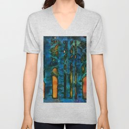 turquoise trees_katallie Unisex V-Neck
