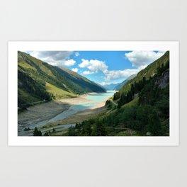 Gepatsch Reservoir Kaunertal Glacier Austria Alps Landscape Art Print