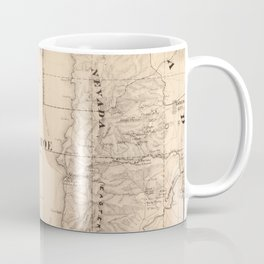 Vintage Map of Lake Tahoe Calfornia (1874) Coffee Mug