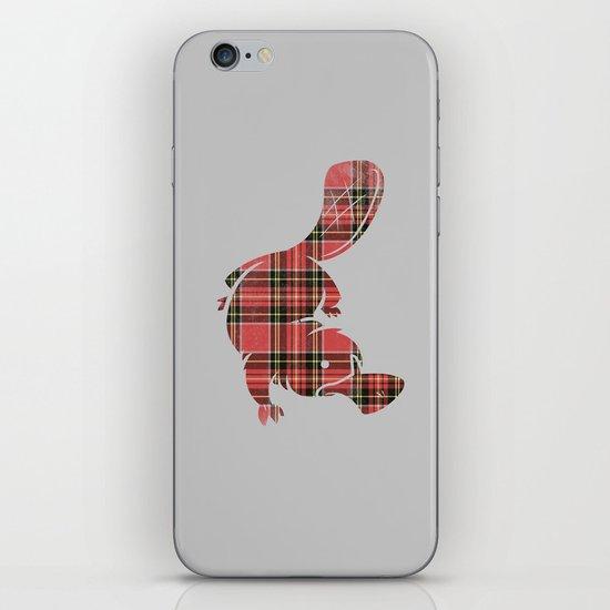 Plaidapus delux iPhone & iPod Skin