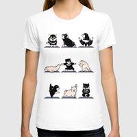 shiba T-shirts featuring Shiba Yoga by Huebucket