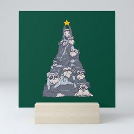 Christmas Tree Schnauzer Mini Art Print