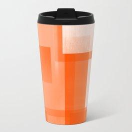 Modern Abstract No. 23 | Orange Travel Mug