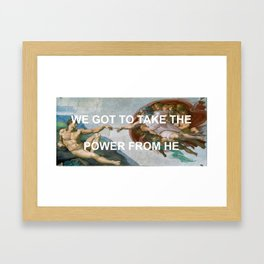 That's It That's The Creation Of Adam Framed Art Print