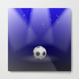 Celebration, Football in the spotlight Metal Print