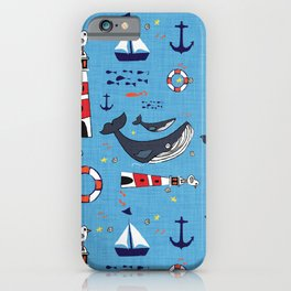 Ocean Blue Whale Blue iPhone Case