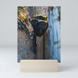 Chockstones in Maligne Canyon - Alberta, Canada Mini Art Print
