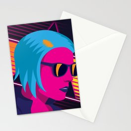 Outrun Girl Stationery Cards