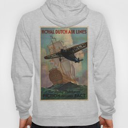 Vintage poster - Royal Dutch Airlines Hoody