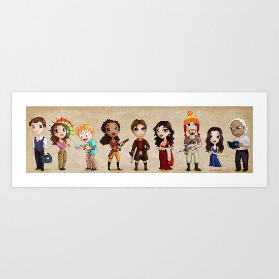Firefly Lil' Damn Heroes Art Print