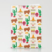 mexico Stationery Cards featuring Mexico by Ana Types Type