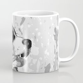 bernese mountain dog vector art black white Coffee Mug