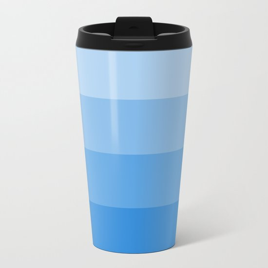 Four Shades of Blue Metal Travel Mug