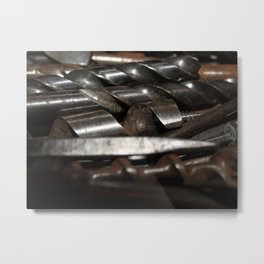 Full Metal Drill Bits Metal Print
