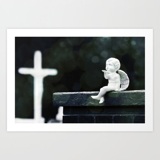 Watching Over Them Art Print