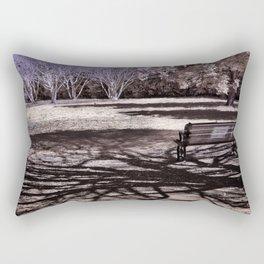 Park Bench in the Shadows Rectangular Pillow