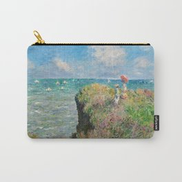 1882-Claude Monet-Cliff Walk at Pourville-66 x 82 Carry-All Pouch