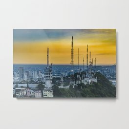 Guayaquil Aerial View from Window Plane Metal Print
