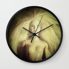 The old doll now is the new doll of a little girl Wall Clock