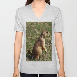Black-tailed Prairie Dog Pose Unisex V-Neck