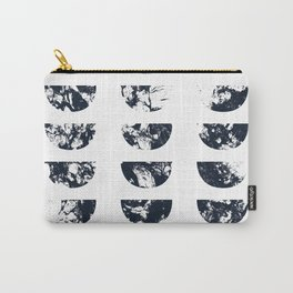 Josie Navy Blue Half Moon Abstract Carry-All Pouch