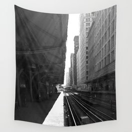 Chicago Subway  Wall Tapestry