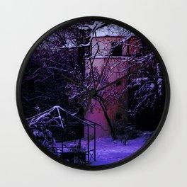 Concept Baden-Wurttemberg : Winter scenery castle park Laupheim Wall Clock