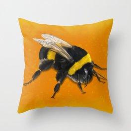 Fuzzy Bumblebee Throw Pillow