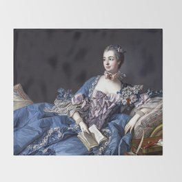 Madame De Pompadour Throw Blanket