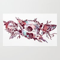 et Area & Throw Rugs featuring Mors et Natura 2.0 by Norman Duenas