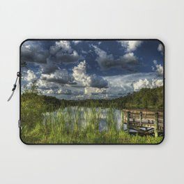 Image USA Gator Lake Florida HDRI Nature Sky Scenery Pier Clouds HDR landscape photography Berth Marinas Laptop Sleeve