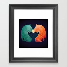 A Tail of Two Horses Framed Art Print