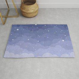 Blue Sky with Stars Rug