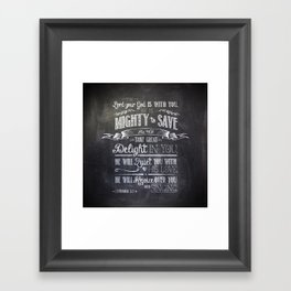 mighty to save Framed Art Print