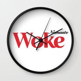Namaste Woke Wall Clock
