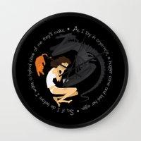 xenomorph Wall Clocks featuring Ripley, the Alien and Jonesy by Rob O'Connor