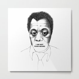 James Baldwin Metal Print