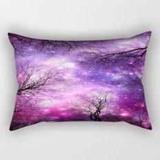 black trees fuchsia purple space Rectangular Pillow