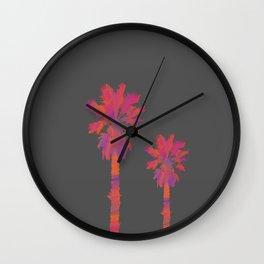 Vibrant Palmtrees No.2 Wall Clock