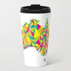 Abstract Australia Bright Earth Travel Mug