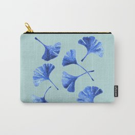 Blue Gihgko Leaves Carry-All Pouch