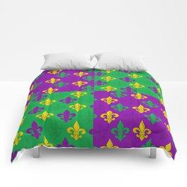 Mardi Gras Fleur-de-Lis Pattern Comforters