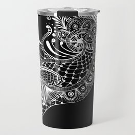 Black Tie Peacock Travel Mug